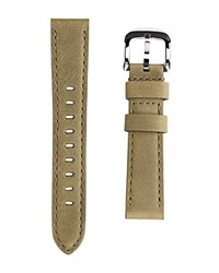 Shinola Interchangeable Olive Green Outrigger Leather Watch Strap 18Mm