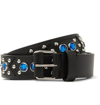 Givenchy 3Cm Black Embellished Leather Belt Black