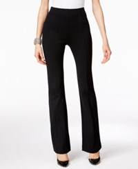 Inc International Concepts Pull On Bootcut Pants Only At Macy's Deep Black