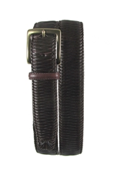 Tommy Bahama 'Largo' Woven Leather Belt Brown