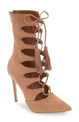 Steve Madden Women's 'Piper' Lace Up Bootie Tan Nubuck