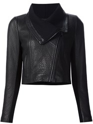 Yigal Azrouel Textured Zip Up Jacket Black