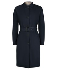 Aquascutum London Laune Reversible Trench Coat Navy