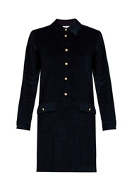 A.P.C. Agnes Button Down Corduroy Dress Dark Blue