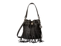 American West Rio Rancho Drawstring Crossbody Black Cross Body Handbags