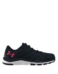 Under Armour Strive 6 Mesh Round Toe Sneakers Black