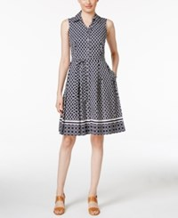 Charter Club Iconic Print Shirtdress Only At Macy's Intrepid Blue