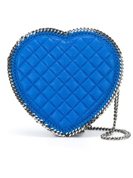 Stella Mccartney 'Falabella' Heart Shaped Quilted Crossbody Bag Blue