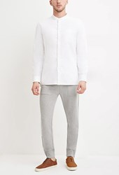 Forever 21 Side Zip Heathered Joggers Heather Grey