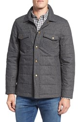 Billy Reid Men's Quilted Herringbone Shirt Jacket