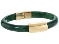 Michael Kors Autumn Luxe Acetate And Stainless Steel Hinged Bracelet Gold Green Bracelet
