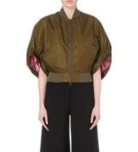 Givenchy Bell Sleeve Shell Jacket Khaki