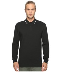Fred Perry Long Sleeve Twin Tipped Shirt Hunting Black Green Oxford White Black Men's Clothing
