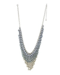 Fragments For Neiman Marcus Fragments Ombre Beaded Bib Necklace