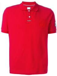 Moncler Gamme Bleu Embroidered Crest Polo Shirt