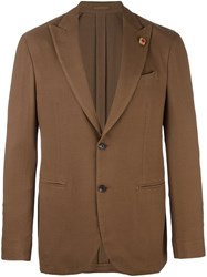 Lardini Two Button Blazer Brown