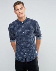 Esprit All Over Ditsy Print Shirt Navy