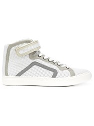 Pierre Hardy Perforated Hi Top Sneakers White