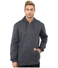 Carhartt Mw Hooded Zip Front Sweatshirt Charcoal Heather Men's Sweatshirt Gray