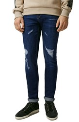 Men's Topman Repaired Stretch Skinny Fit Jeans