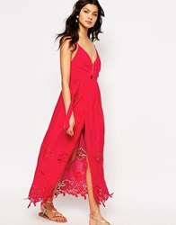 The Jetset Diaries Lotus Maxi Dress In Coral Coral Red
