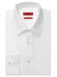 Hugo Enzo Cotton Poplin Regular Fit Shirt Open White