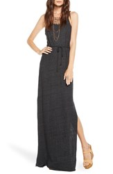 Women's Chaser Braided Strap Open Back Maxi Dress Black