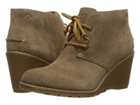 Sperry Stella Prow Taupe Women's Wedge Shoes
