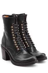 Fiorentini Baker And Leather Lace Up Boots Black