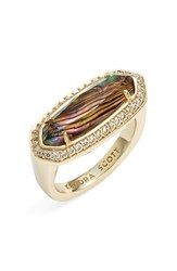 Women's Kendra Scott 'Arielle' Ring Abalone Gold
