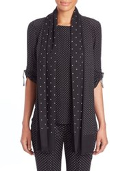Akris Punto Polka Dot Wool Silk Scarf