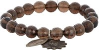 Miracle Icons Men's Smoky Topaz Charm Bracelet Brown