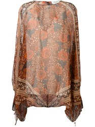 Chloe Scarf Print Blouse Yellow And Orange