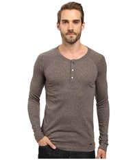 Boss Orange Tambow Melange Rib Henley Green Men's Clothing