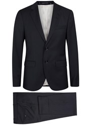 Tiger Of Sweden Gekko Navy Slim Fit Jacquard Wool Suit