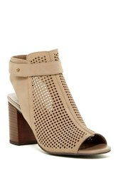 14Th And Union Tracey Perforated Ankle Strap Pump Beige