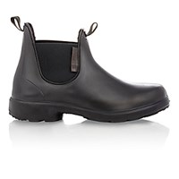 Barneys New York Men's Rubber Chelsea Boots Black Blue Black Blue