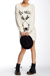 Wildfox Couture All You Need Is Love Roadtrip Sweater Dress White