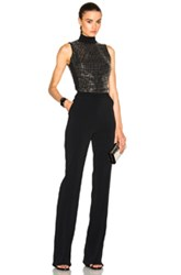 David Koma Metal Studs Jumpsuit In Black