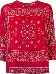 Visvim Bandanna Tunic Top Red