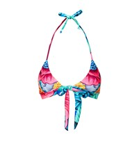 Mara Hoffman Floral Wrap Around Bikini Top Female Multi