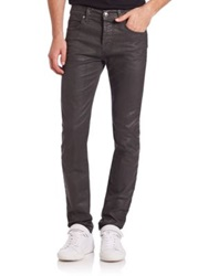 Mcq By Alexander Mcqueen Strummer 01 Coated Skinny Jeans Medium Grey