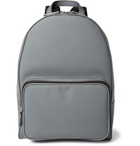 Berluti Matte Leather Backpack Gray