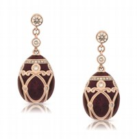 Faberge Palais Yelagin Cherry Red Earrings