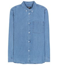 A.P.C. Lynn Cotton Chambray Shirt Blue