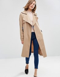 Asos Mac With Contrast Chambray Detail Stone