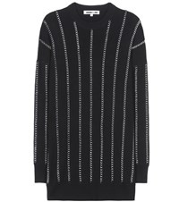 Mcq By Alexander Mcqueen Embellished Wool Sweatshirt Black
