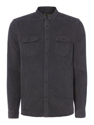 Label Lab Men's Maxwell Cord Shirt Washed Black