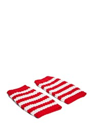 Gucci Striped Knit Hand Warmer Gloves Red