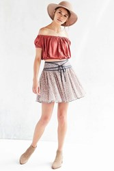 Ecote Mulan Mini Circle Skirt Pink